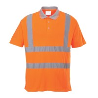 Polo de travail HV Cotelé orange PORTWEST